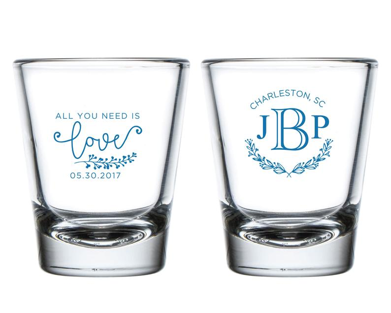 Personalized Wedding Shot Glasses (8)
