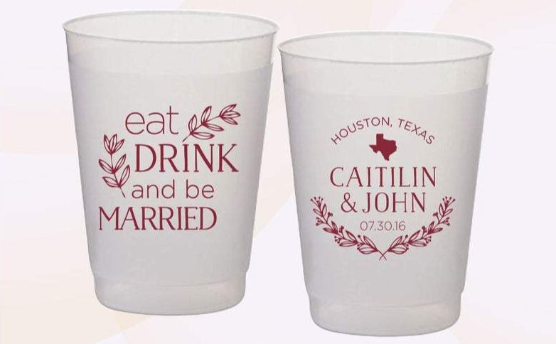Eat Drink And Be Married Wedding Cups (11)