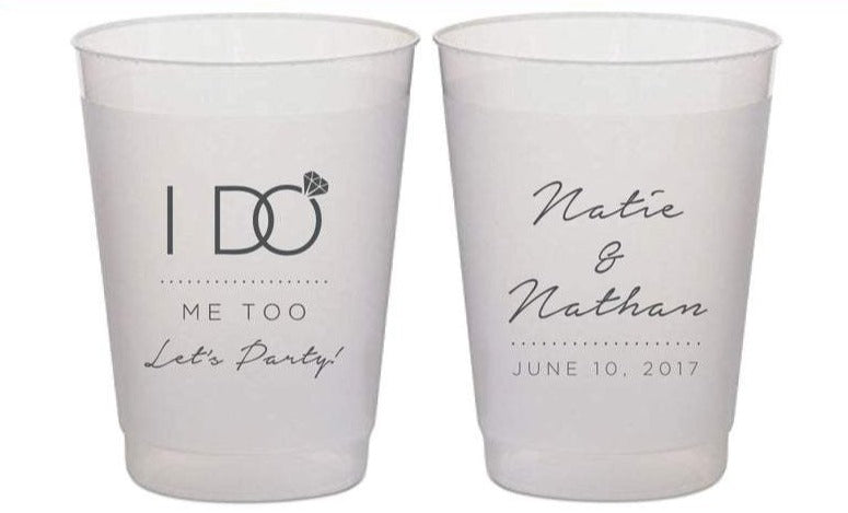 I DO Me Too Let's Party Wedding Frosted Cups (27)