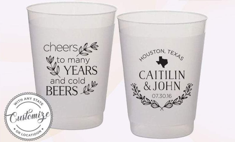 Customized Wedding Cups, Wedding Frosted Cups  (51)