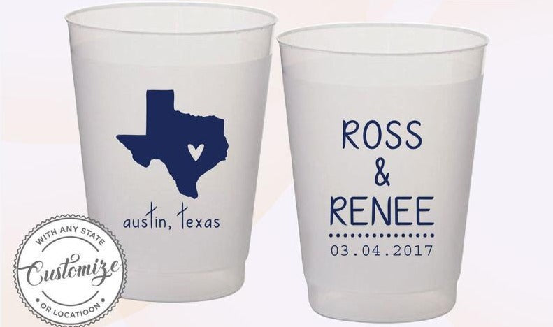 Frosted Texas Cups (5)