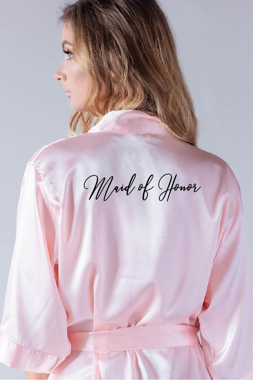 Handwritten Style - Maid of Honor Robe