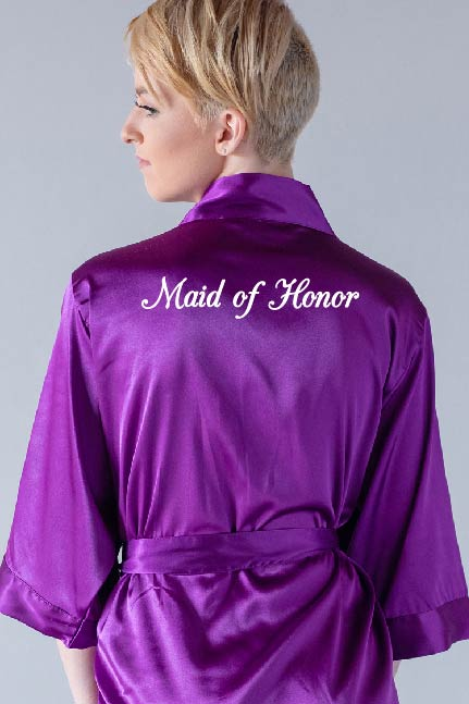 Elegant Style - Maid of Honor Robe
