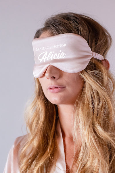 Eye Mask - Maid of Honor (with Custom Text)