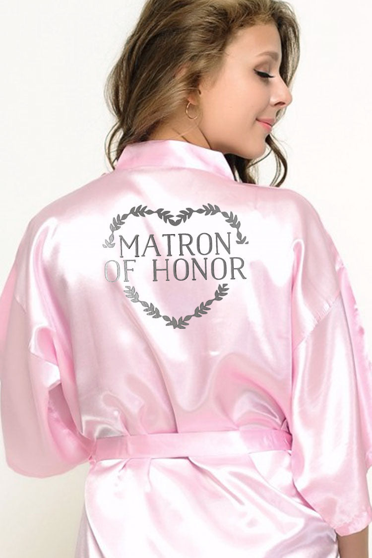 Heart Wreath Style - Matron of Honor Robe
