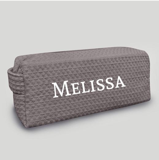 Mini Grey Makeup Bag