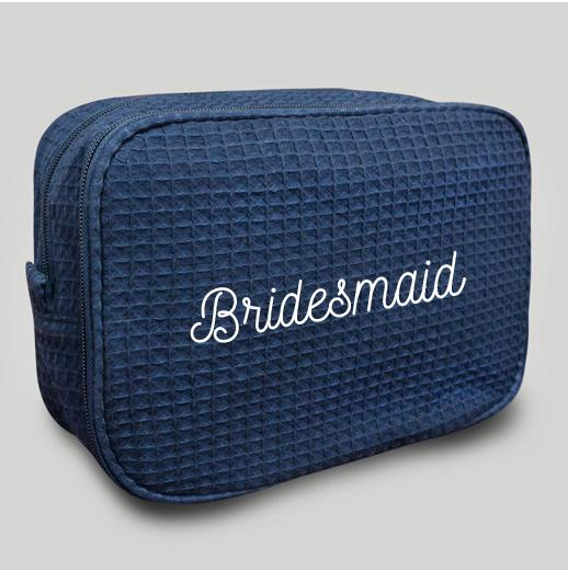 Navy Makeup Bag