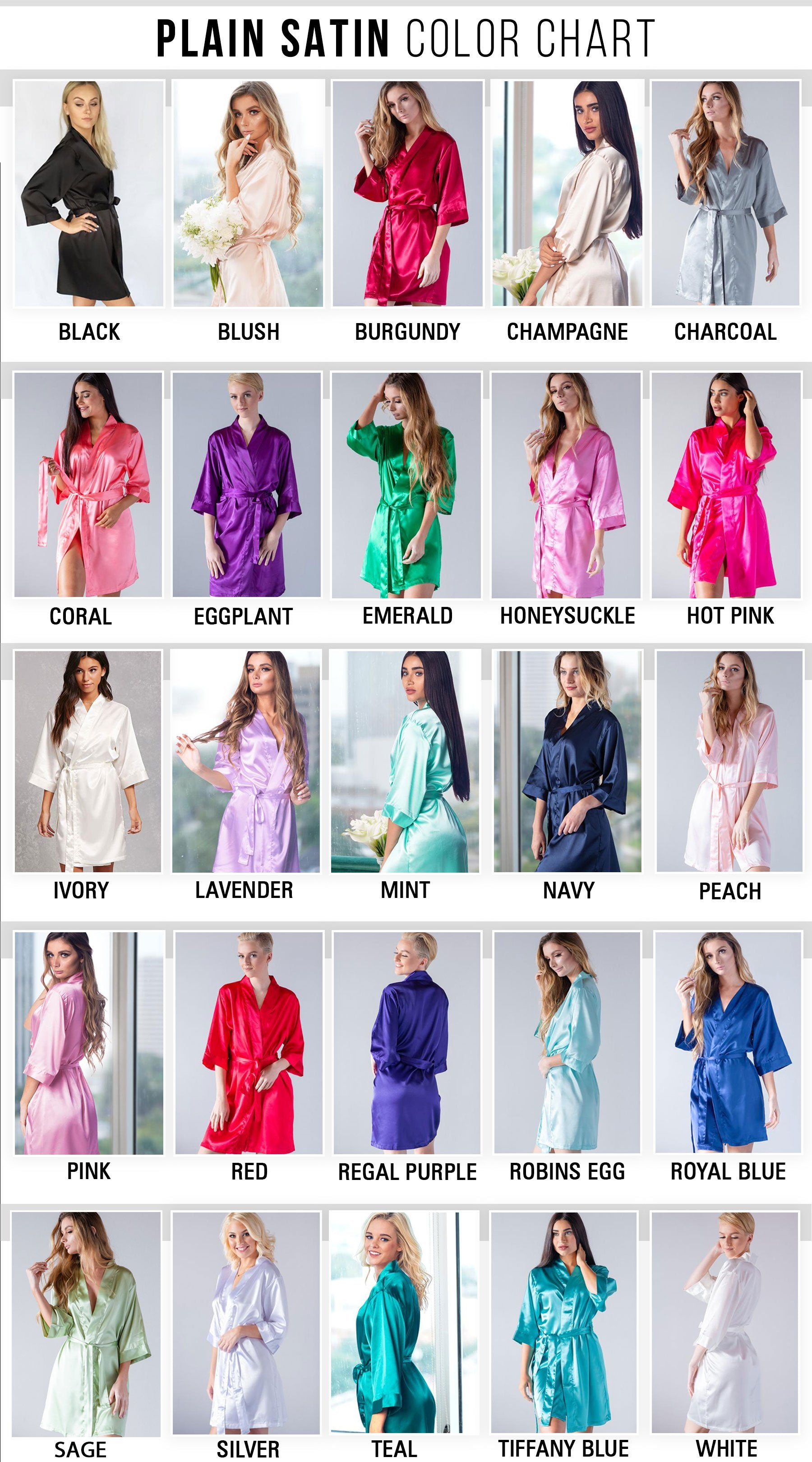 Vivid Style - Bridesmaid Robe