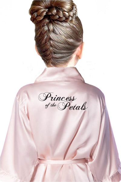 Ring Style Princess of the Petals - Kids Flower Girl Robe