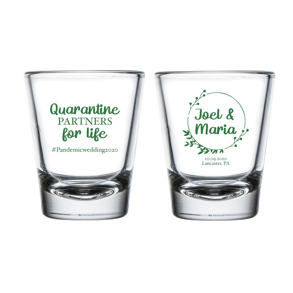 Spread Love Not Germs Wedding Shot Glasses (13)