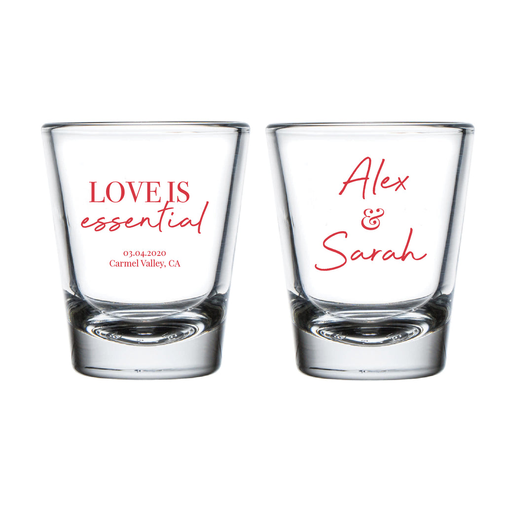 Love Is Essential Wedding Shot Glasses (17)