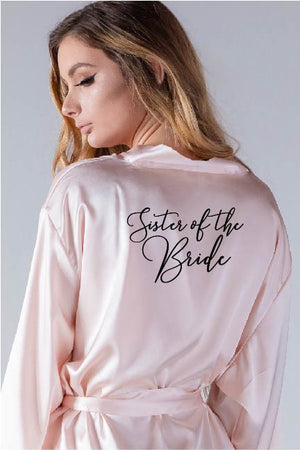 Handwritten Style - Sister of the Bride Robe