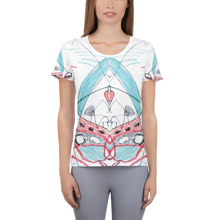 'Towers'  Women's Athletic T-shirt