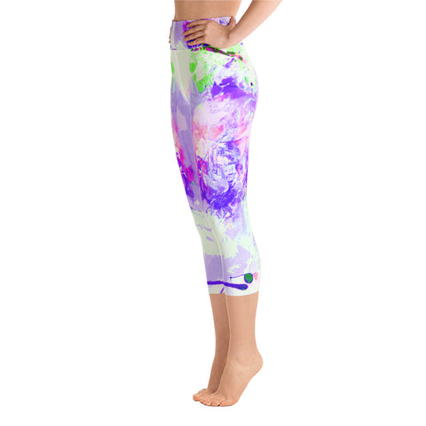 """Lilac"" High Waisted Capri Leggings - TryRight Store"