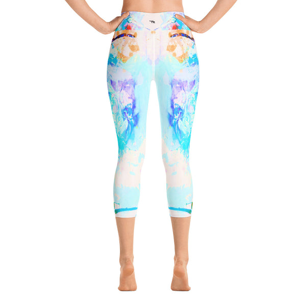 """Daisy"" High Waisted Capri Leggings - TryRight Store"