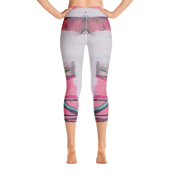 """Cloud"" High Waisted Capri Leggings - TryRight Store"