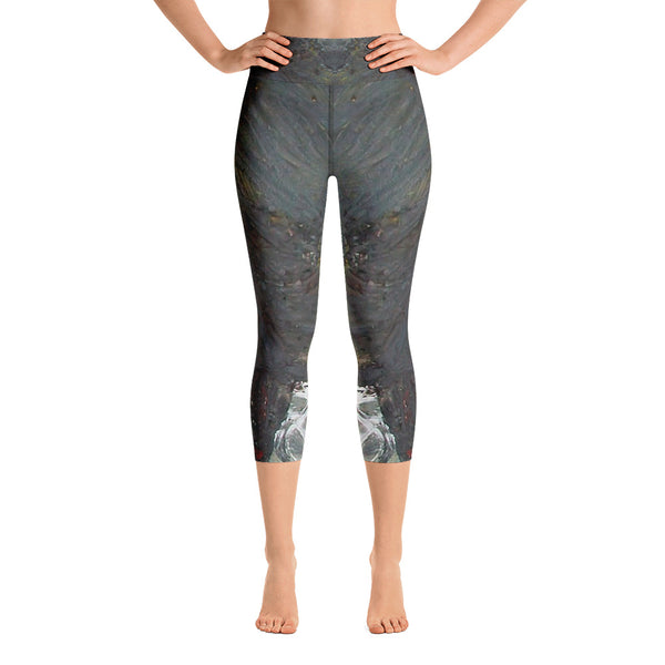"""River""High Waisted Capri Leggings - TryRight Store"