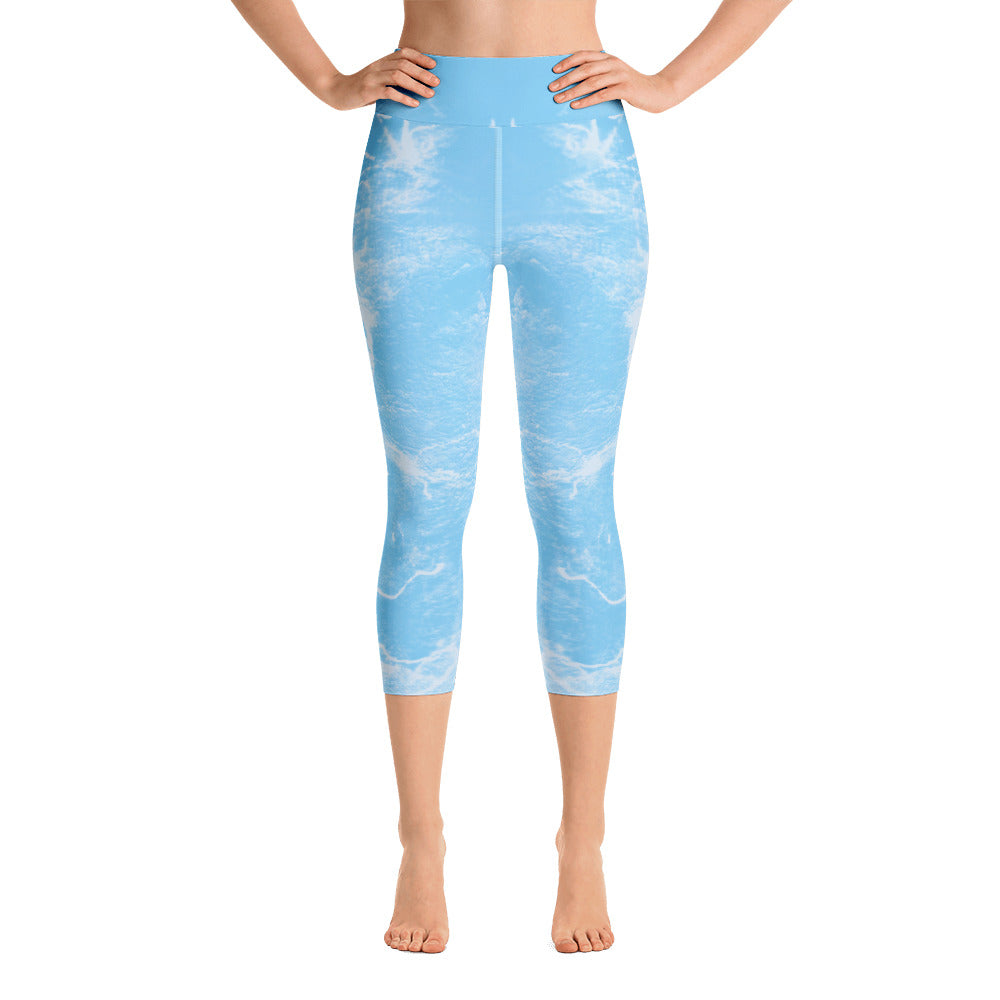 """Music blue"" Capri Leggings - TryRight Store"
