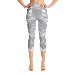 """Music grey"" Capri Leggings - TryRight Store"