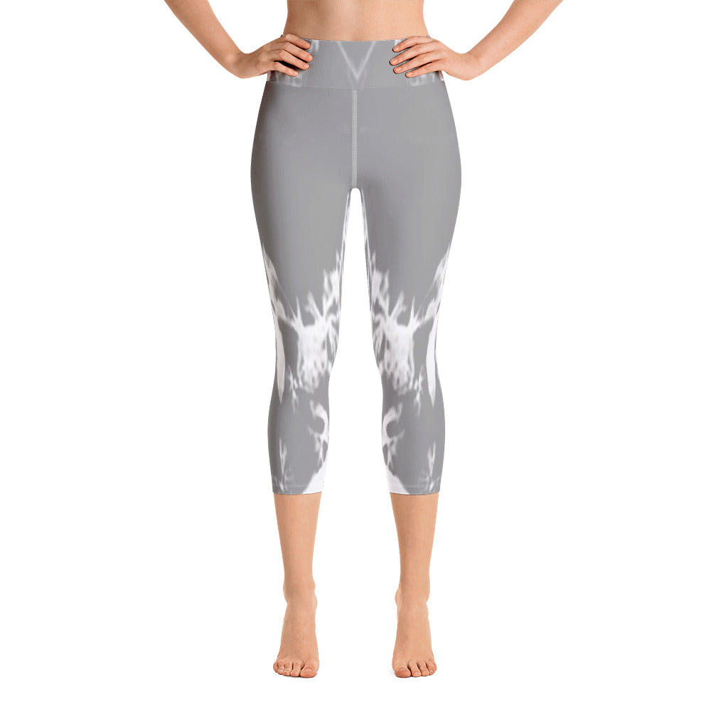 """Sliver"" High Waisted Capri Leggings - TryRight Store"