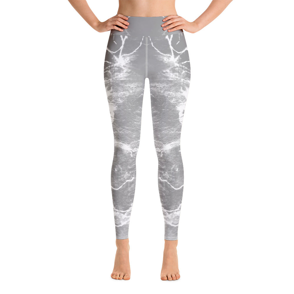 """Music grey"" High Waisted Leggings - TryRight Store"