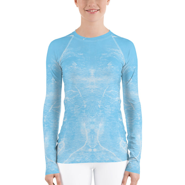 """Dance blue"" Women's Rash Guard - TryRight Store"