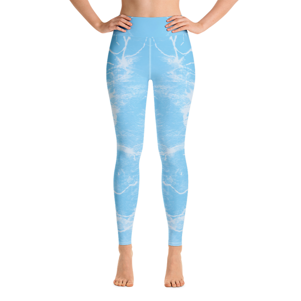 """Music blue"" High Waisted Leggings - TryRight Store"