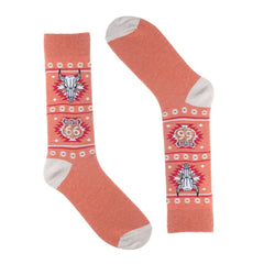 Orange Route 66 Dress Socks