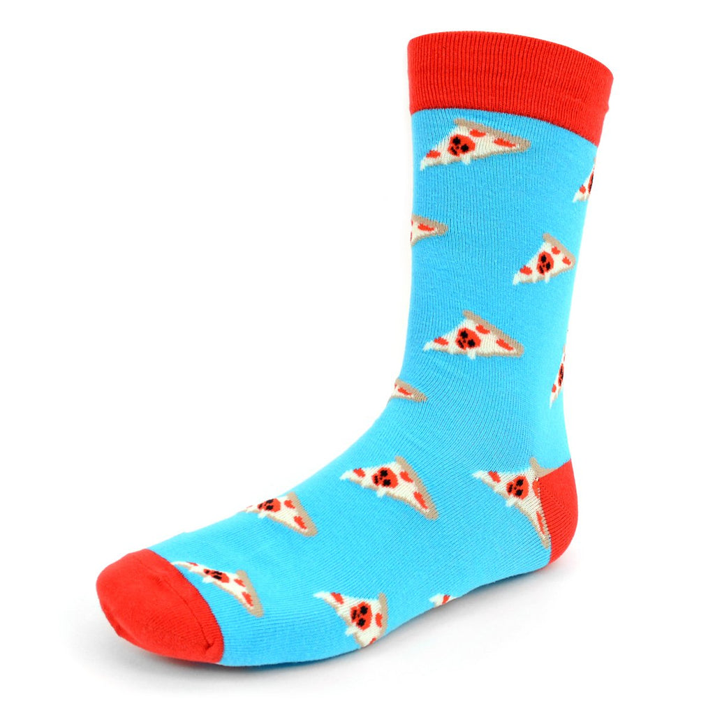 Pizza Slice Blue Dress Socks
