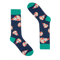 Pizza Blue Dress Socks