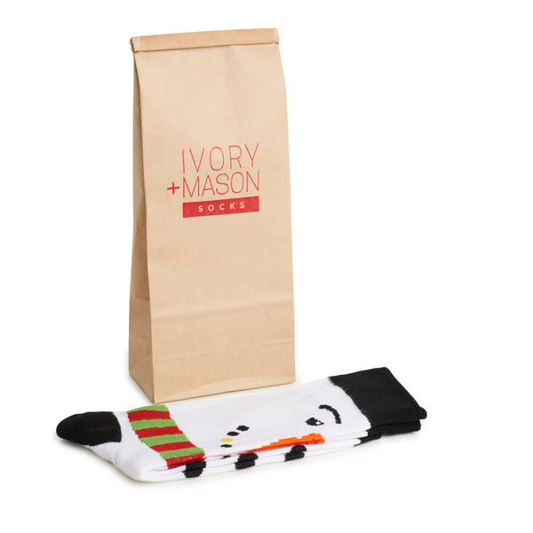 Christmas Snow Man Dress Socks