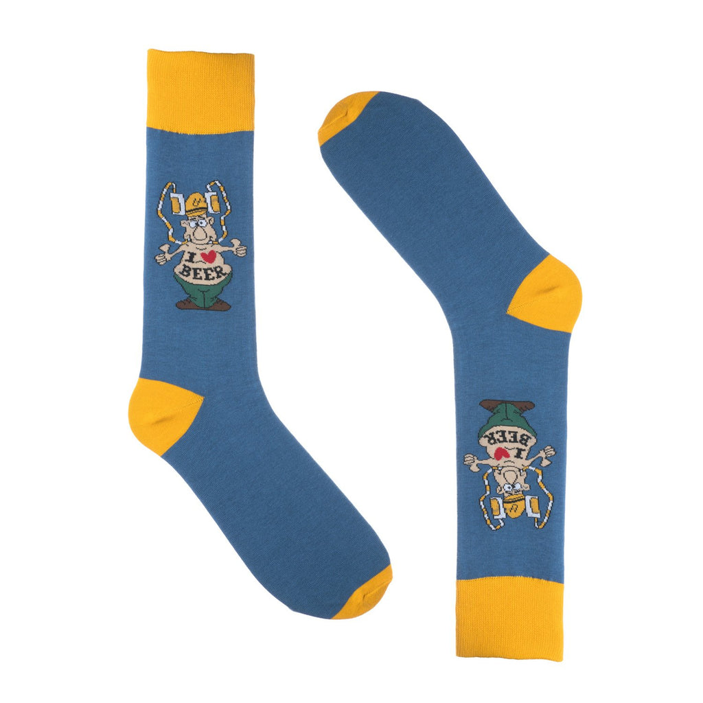 l Love Beer Dress Socks