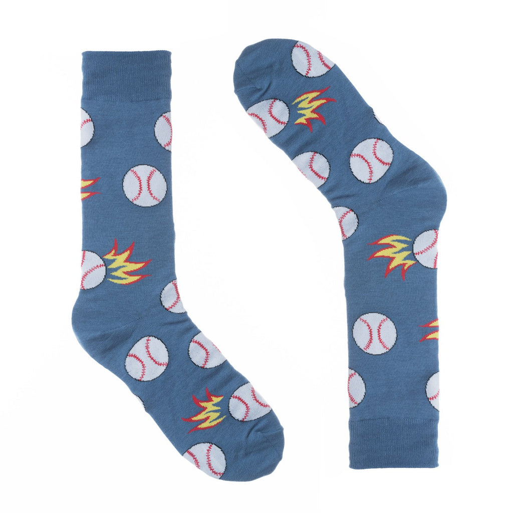 Baseball Blue Dress Socks