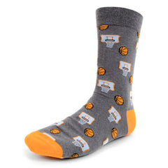 Basketball Grey Dress Socks
