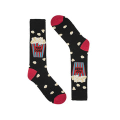 Popcorn Black Dress Socks