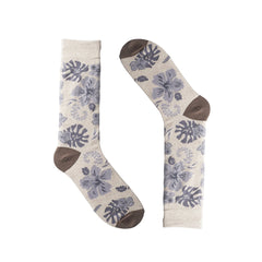 Hawaiian Beige Dress Socks