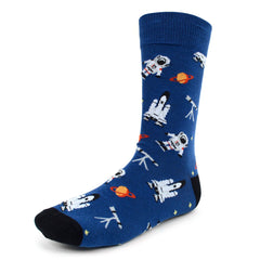Astronaut Blue Dress Socks