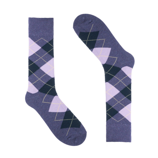 Groomsmen Socks - Purple Argyle (6 Pairs)