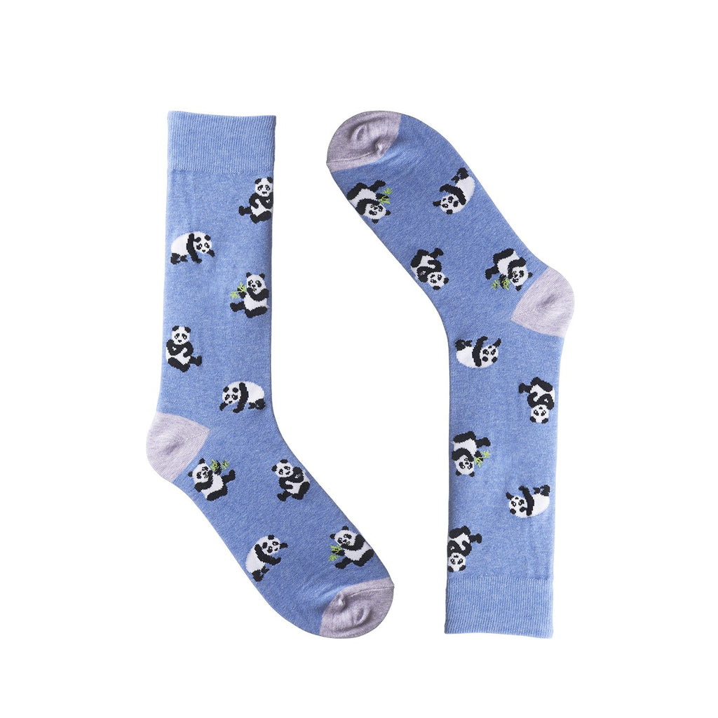 Panda Blue Dress Socks