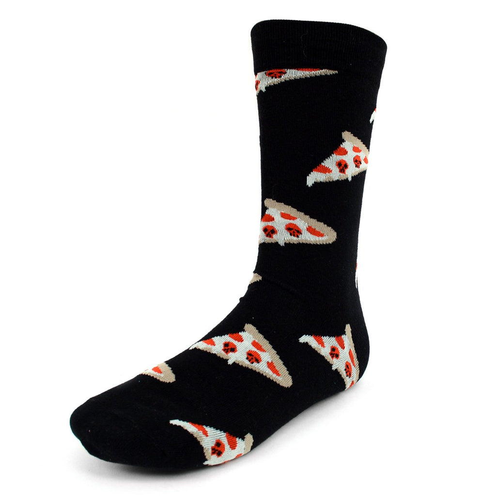 Pizza Slice Black Dress Socks