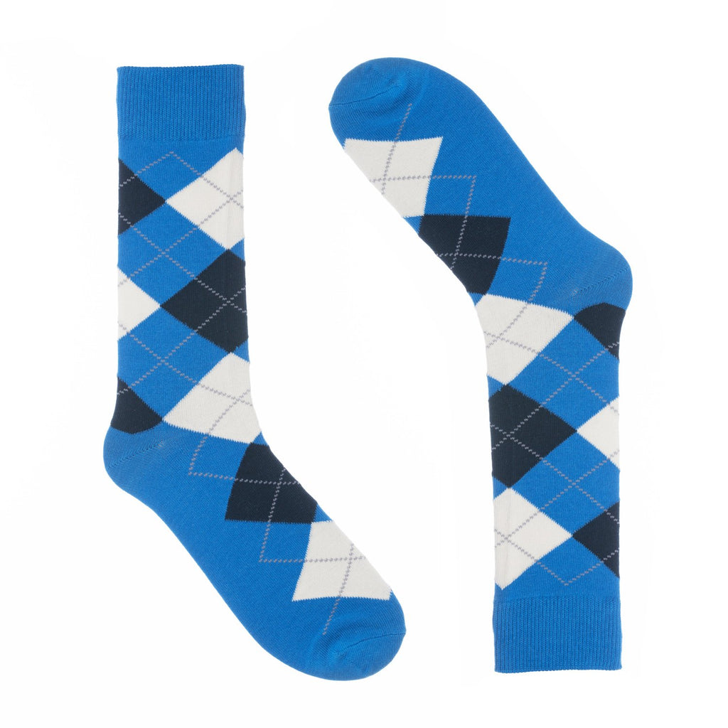 Blue Argyle Dress Socks