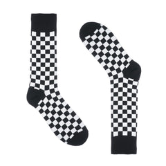 Black and White Checkered Dress Socks