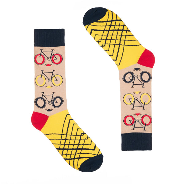 Tan Bicycle Dress Socks