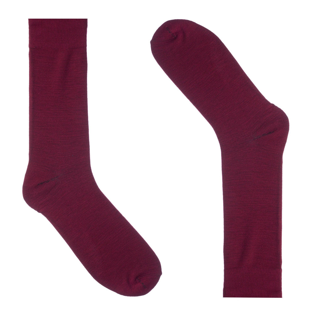 Burgundy Dress Socks