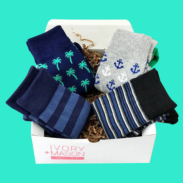 Father's Day Socks Gift Box  (4 pack) Perfect Father's Day Gifts & Ideas - Dad Socks
