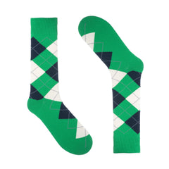 Green Argyle Dress Socks