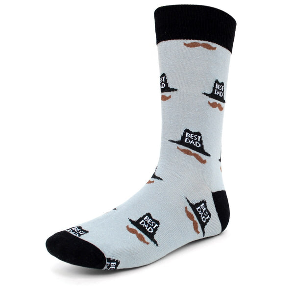 Best Dad Grey Dress Socks