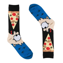 Pizza Eating Man Dress Socks