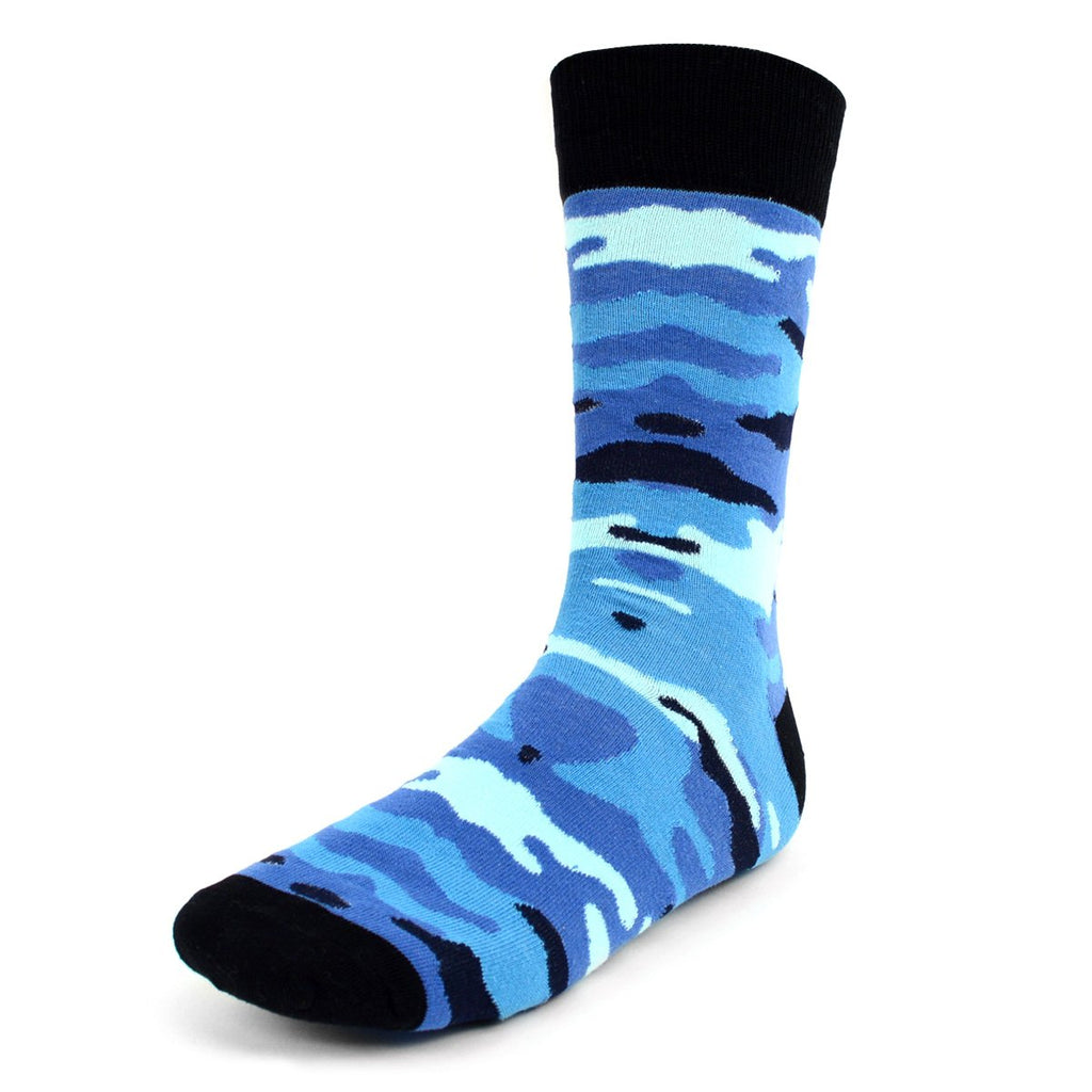 Camouflage Blue Dress Socks