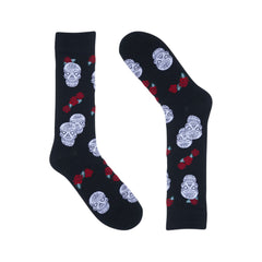 Skulls & Roses Black Dress Socks